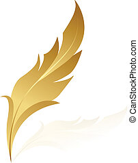Vector illustration of golden feath