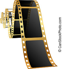 Vector illustration of golden film