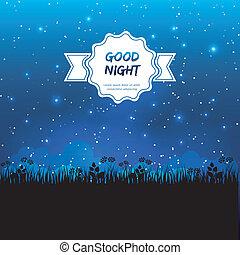 Good night design - Vector illustration of Good night design