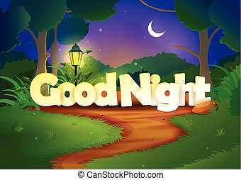 vector illustration of Good Night wallpaper background