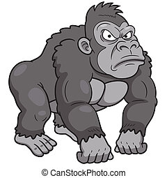 Gorilla - Vector illustration of Gorilla Cartoon