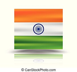 Vector illustration of gradient mesh Indian Flag