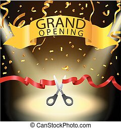 Grand opening background