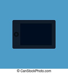 Vector illustration of graphic tablet