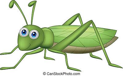 Vector illustration of Grasshoppher cartoon