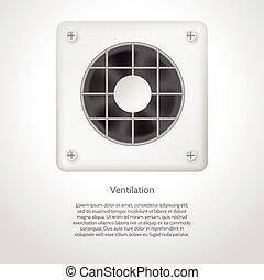 Vector illustration of gray ventilation