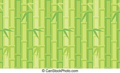 vector illustration of green abstract bamboo background