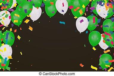 Vector Illustration of Green Balloons