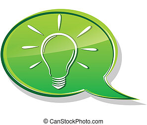green bulb bubble