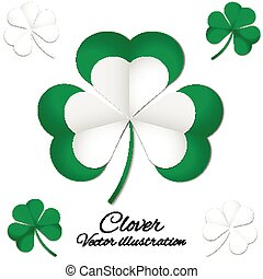 vector illustration of green clover picture