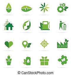 green icon and symbol design