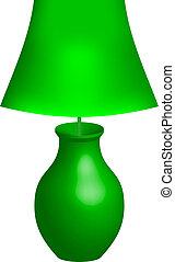 Vector illustration of green lamp