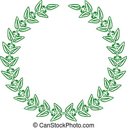Vector illustration of green laurel