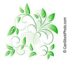 Vector illustration of Green leaf