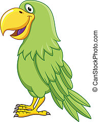 Green Parrot - Vector Illustration Of Green Parrot
