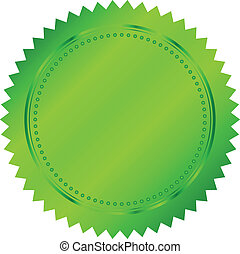 Vector illustration of green seal