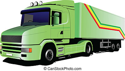 Vector illustration of green  truc