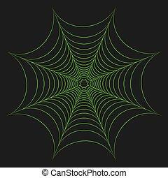 Vector illustration of greenery cobweb