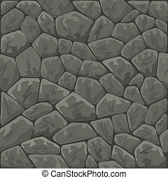 stone seamless pattern - Vector illustration of grey stone...