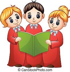 Group of children choir