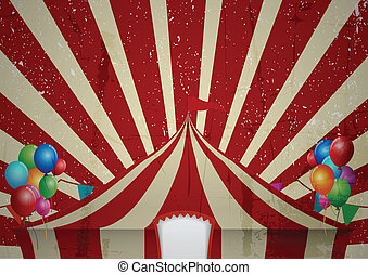 Grunge Circus tent - Vector Illustration Of Grunge Circus...