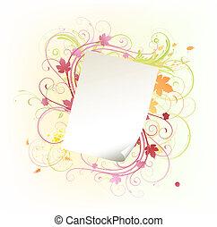 paper leaf frame