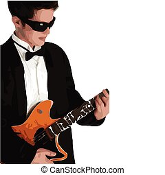 Vector Illustration of Guitar Player