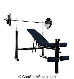 vector illustration of gym equipment