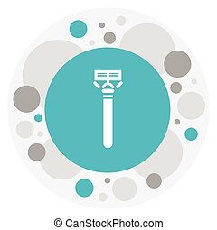 Vector Illustration Of Hairdresser Symbol On Shaving Icon. Premium Quality Isolated Razor Element In Trendy Flat Style.