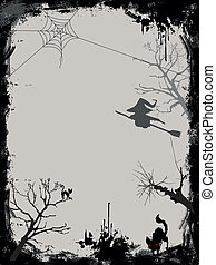 Halloween background silhouette