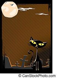 Vector illustration of Halloween ca