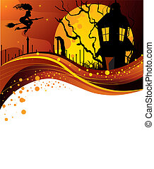 Halloween dark back - Vector illustration of Halloween dark ...