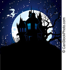 Halloween dark back - Vector illustration of Halloween dark ...