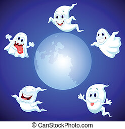 Halloween ghost cartoon