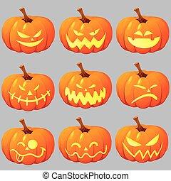 Jack o Lantern - Vector illustration of halloween pumpkin ...
