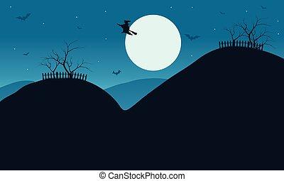 Vector Illustration of Halloween silhouette
