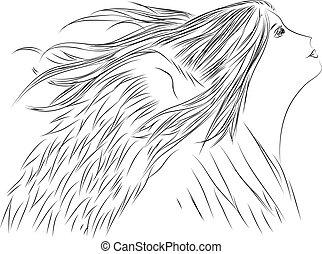 hand drawing angel