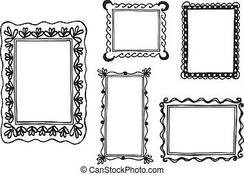 vintage wall frames set