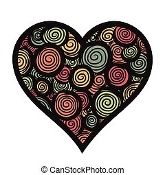 vector illustration of hand-drawn doodle heart