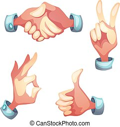Vector illustration of hand gesture symbols
