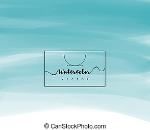 Hand painted watercolor texture - Vector illustration of ...