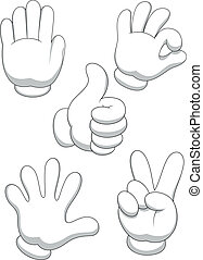 Hand sign cartoon - Vector illustration of Hand sign cartoon