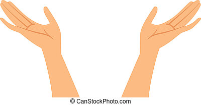 Vector illustration of hands