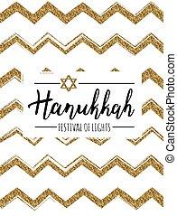 Vector illustration of Hanukkah (Festival of lights)....