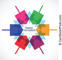 vector illustration of Hanukkah