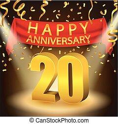 Happy 20th Anniversary celebration