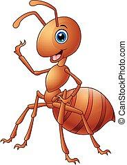 Happy ant cartoon
