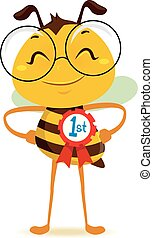 Happy Bee with 1st Place Ribbon