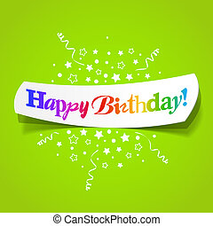 Happy birthday greetings - Vector illustration of Happy ...