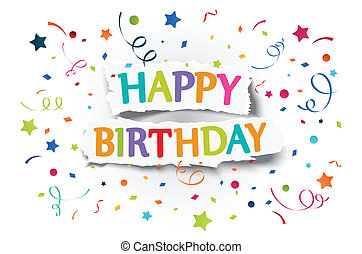 Happy birthday greetings - Vector Illustration of Happy...